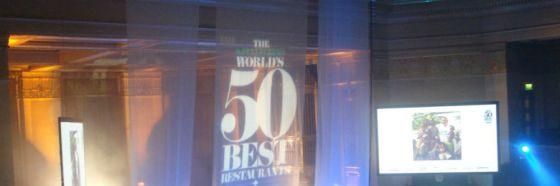 gasTROPop toma Alto toma con un menú de platos de los 50 mejores restaurantes del mundo