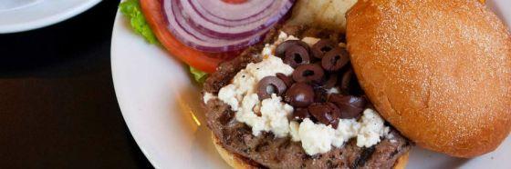 Hamburguesa griega receta feta greek nia vardalos