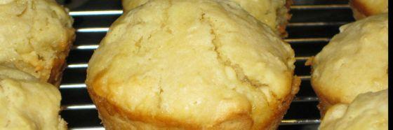 Muffins de chocolate blanco y nuez de macadamia
