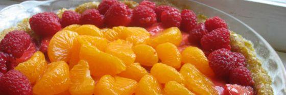 Tartaleta de melocotones y fresas