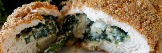 Pechugas de pollo rellena con espinaca y queso