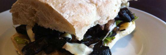 Sándwich de hongos Portobello