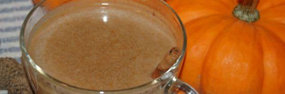Latte de auyama especiado