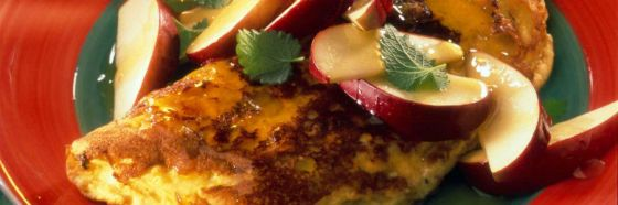 Omelette de manzanas al Calvados