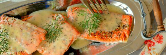 Salmón en salsa de sidra e hinojo