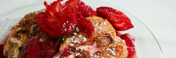 Tostadas a la francesa horneadas con fresa
