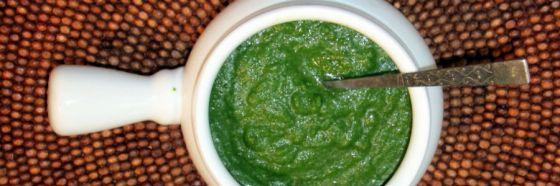 Chutney de menta y cilantro