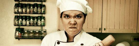 chef molesto en la cocina