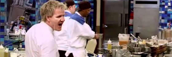 Gordon ramsay gritando cocina