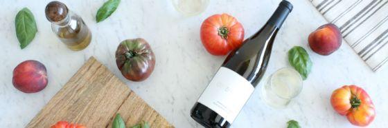 wine and veggies