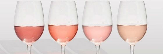 rose wine shades glasses