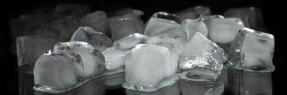 ice cubes on black