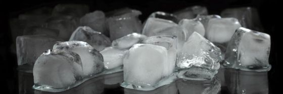 ice cubes on black