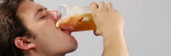 man drinking gluttony