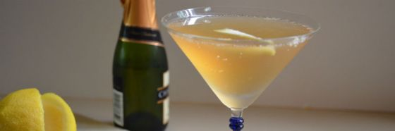 French 75 gin champagne cocktail