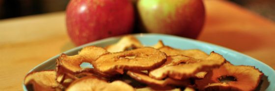 apple chips snack healthy