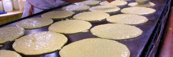 cachapas comida llanera venezolana maiz