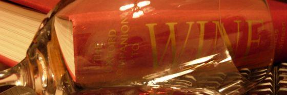 wine book trough a wine glass