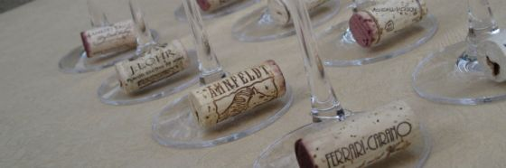 wine glasses corks