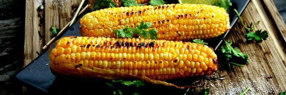 grilled corn cobb
