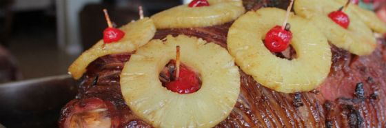 glazed pinapple ham christmas xmas