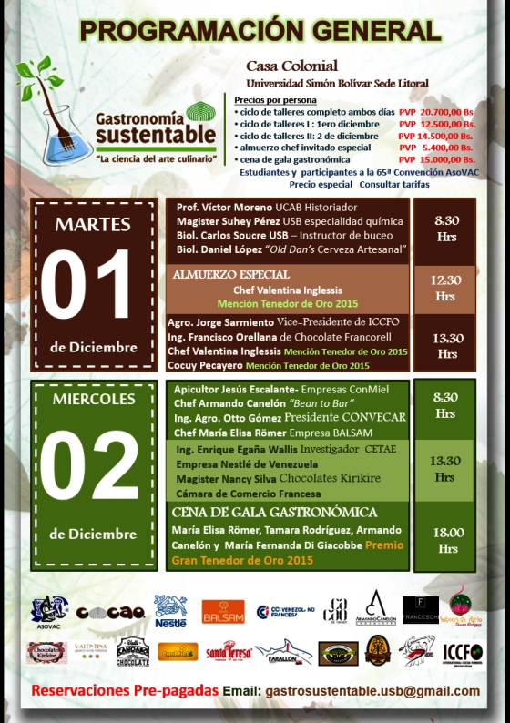 evento gastronomia sustentabilidad universidad simon bolivar litoral