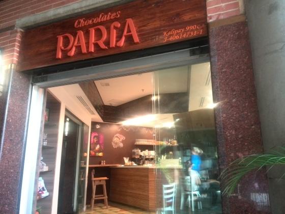 fachada tienda chocolates paria